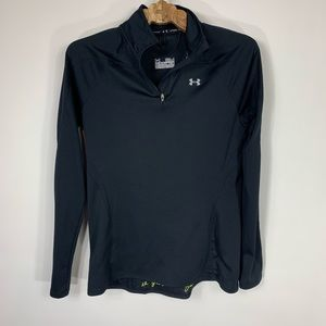 Under Armour Black Semifitted 1/4 Zip Top  S